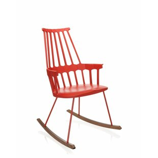 Outdoor Red Rocking Chair | Wayfair