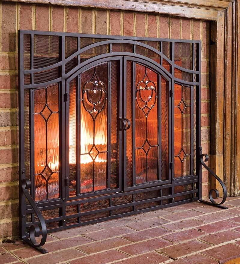 Plow Hearth Single Panel Steel Fireplace Screen Reviews Wayfair