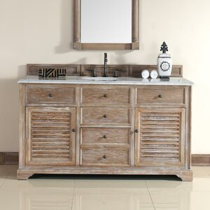 Belfield 60 Single Driftwood Bathroom Vanity Set