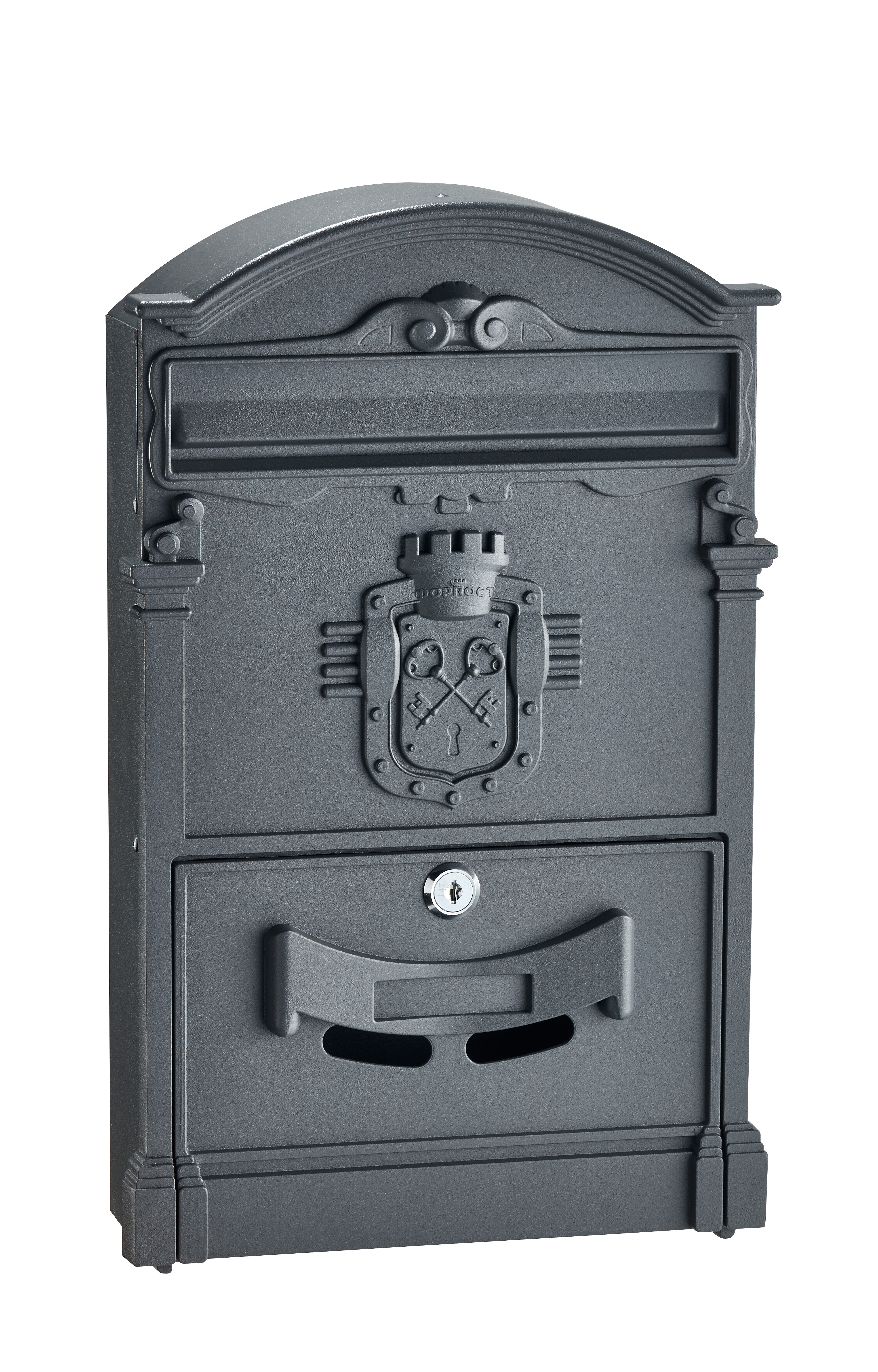 awesome New Orleans Style Mailboxes Part - 11: AdirHome Ancient Castle Locking Wall Mounted Mailbox | Wayfair