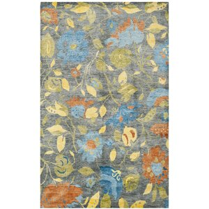 Rivendell Hand-Knotted Blue/Gray Area Rug