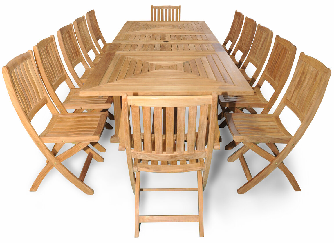 Regal Teak Sanibel Grand Teak 13 Piece Dining Set | Wayfair