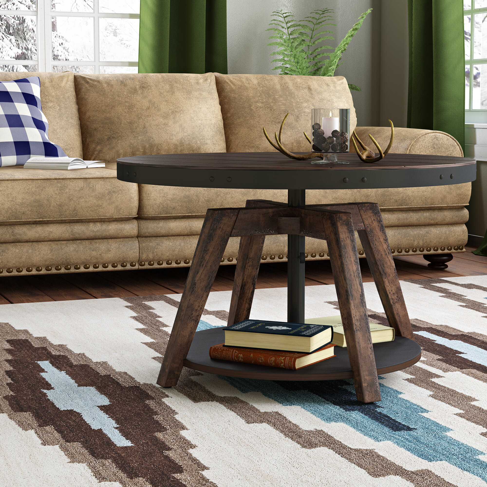 Loon Peak Canoas Motion Coffee Table & Reviews