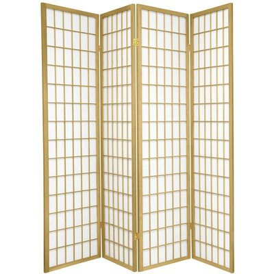 Bungalow Rose Leiva Room Divider Color: Gold, Number of Panels: 4