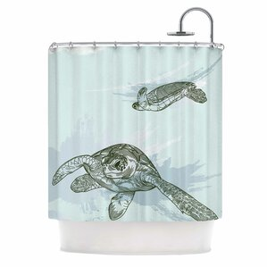 U0027Sea Turtlesu0027 Shower Curtain. U0027