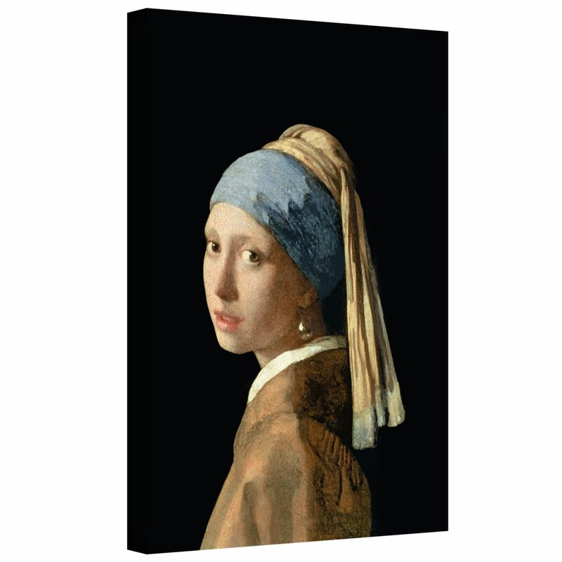 ed03d59cf89 'Girl with a Pearl Earring' by Johannes Vermeer Painting Print on Wrapped  Canvas