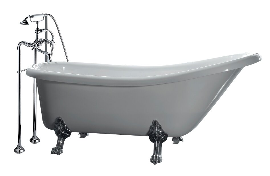 double slipper clawfoot tub acrylic.  Clawfoot Tubs You ll Love Wayfair