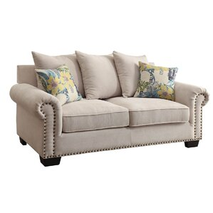 Constantine Nailhead Trim Loveseat by Darby ..