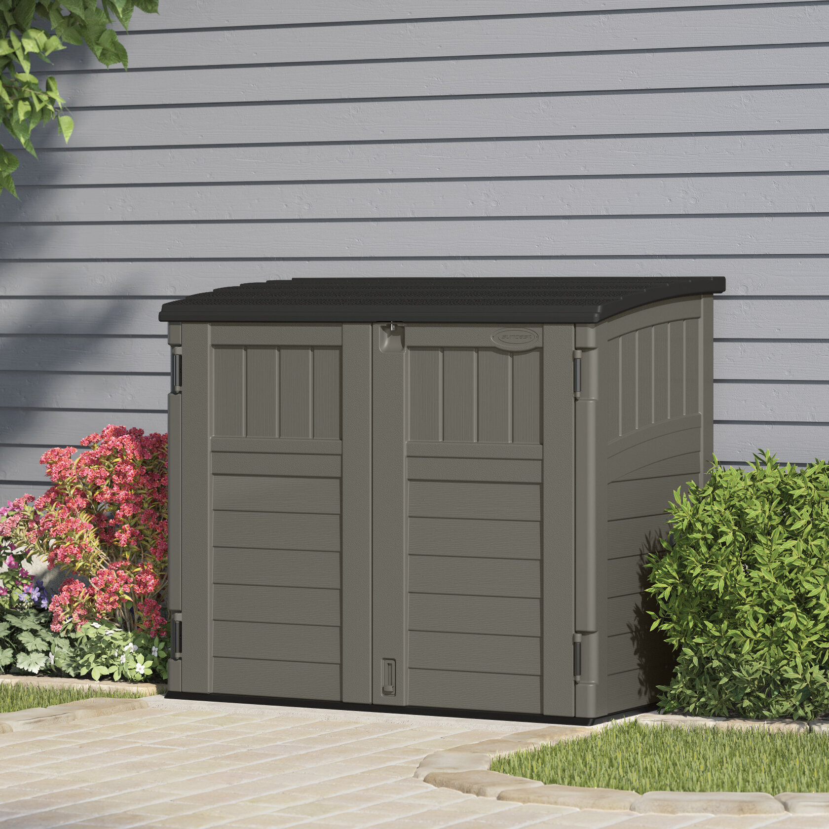 Exceptionnel Stoney Horizontal 4.5 Ft. W X 3 Ft. D Resin Storage Shed