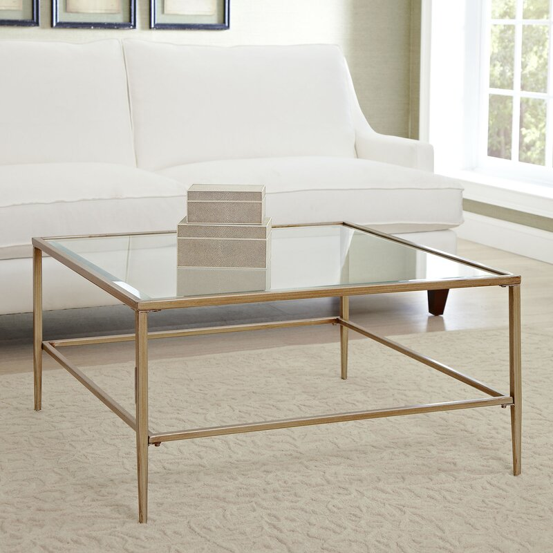 Square Or Rectangle Coffee Table nash square coffee table & reviews | birch lane