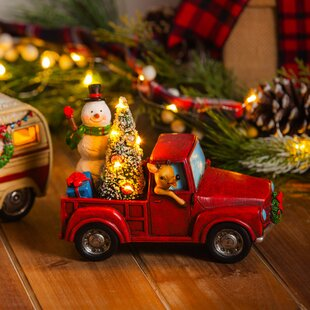 snowman in a truck led dcor - Christmas Truck Decor