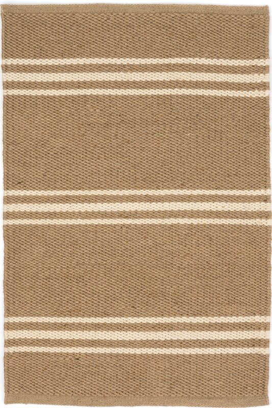 Dash and Albert Rugs Lexington Hand Woven Beige Indoor/Outdoor ...