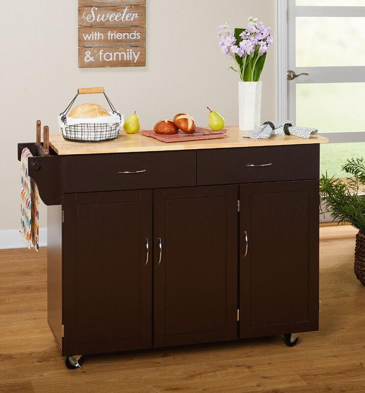 Sayers Kitchen Island with Wood Top & Reviews   Birch Lane