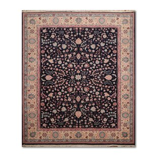 Compare & Buy One-of-a-Kind Eris Traditional Persian Hand-Knotted 7'10 x 10' Wool Blue/Ivory/Rose Area Rug By Isabelline