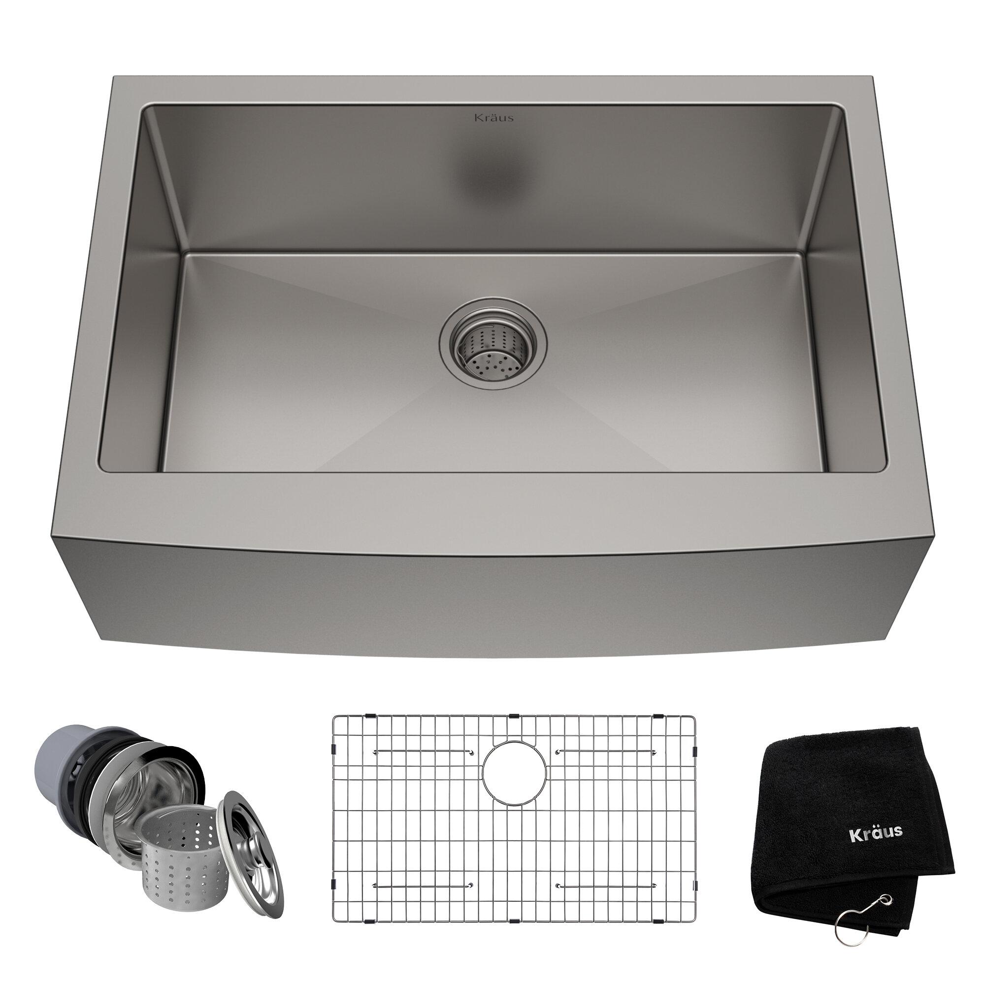 Vigo Laurelton Pull Down Spray Kitchen Faucet In Matte Black modern & contemporary 30 inch kitchen sink | allmodern