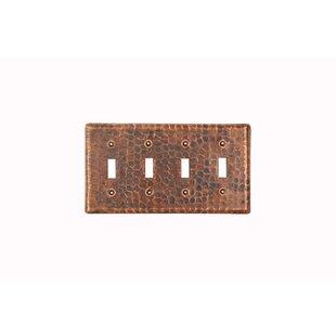 rustic light switch covers bear copper switchplate quadruple toggle switch cover rustic light covers wayfair