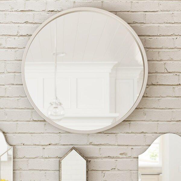 Majestic Mirror Simple Silver Frame Modern Circular Beveled Glass Wall  Mirror U0026 Reviews | Wayfair