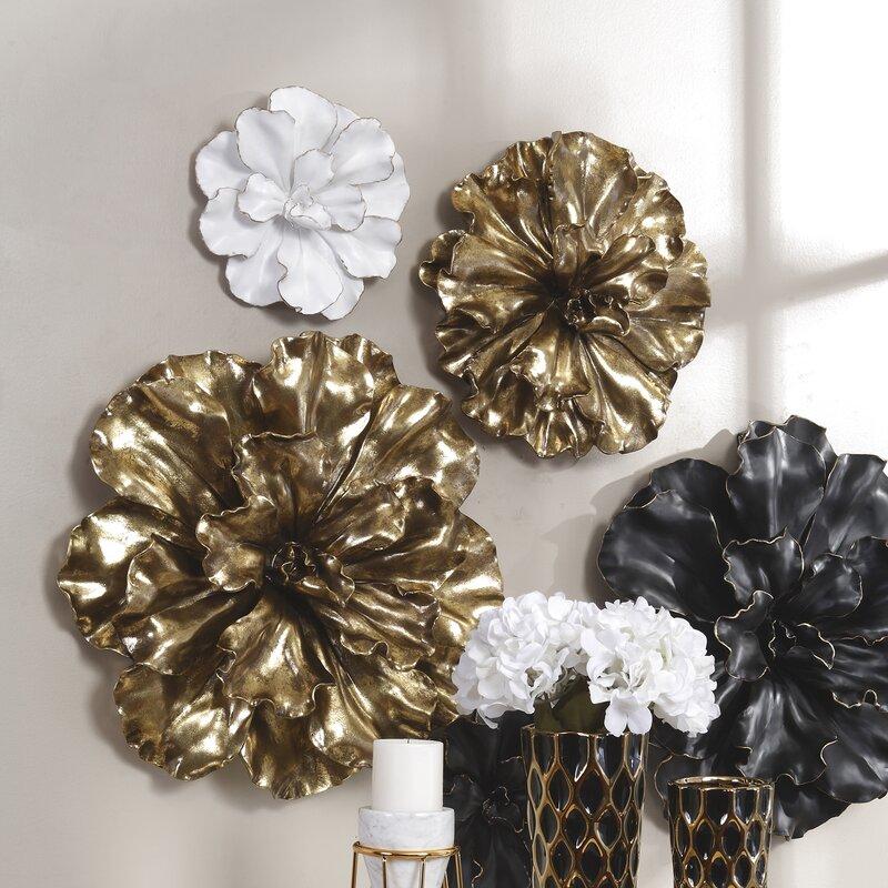 3eca401df5 Ophelia & Co. White/Gold Flower Wall Décor & Reviews | Wayfair