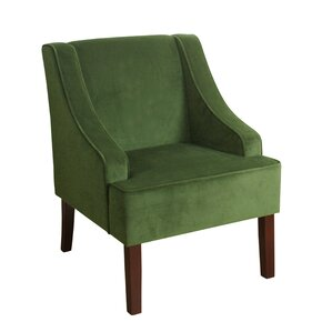Antoinette Velvet Swoop Armchair by Laurel F..