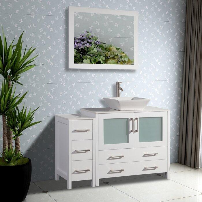 Admirable Karson 36 Single Bathroom Vanity Set With Mirror Download Free Architecture Designs Scobabritishbridgeorg