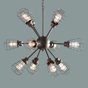 Vintage filament bulb chandeliers youll love anso 12 light sputnik chandelier mozeypictures Choice Image