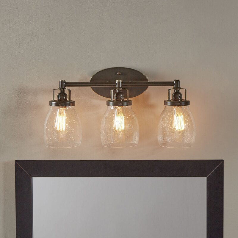 Over Sink Light Fixtures: Trent Austin Design Panorama Point Heirloom Bronze 3-Light