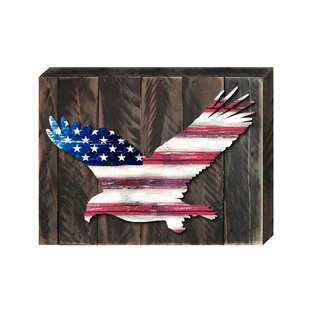 Eagle Vintage American Flag Let Freedom Ring Wall Decor