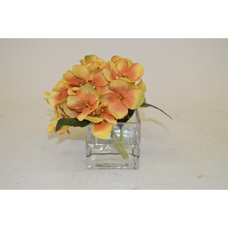 The French Bee Hydrangea In Cube Vase Wayfair