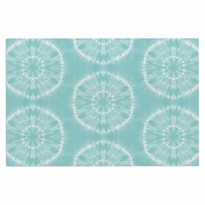 Jacqueline Milton Shibori Circles Latte Pastel Mixed Media Doormat