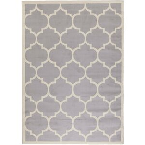 Homesense Contemporary Moroccan Trellis Gray Area Rug