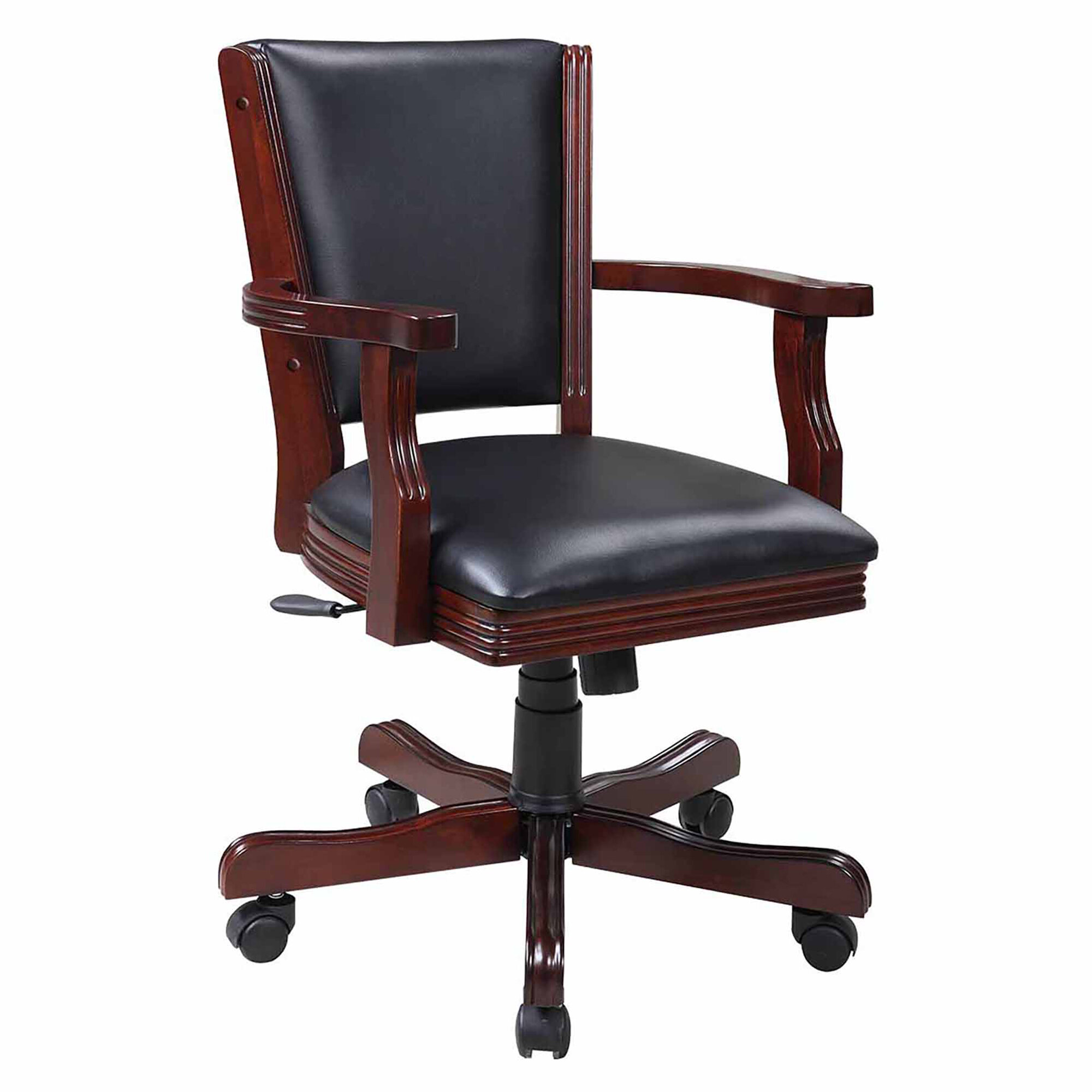 furniture amazon comfort stylish thick designer clean liam office dp upholstered home com porthos height chair padding executive with adjustable for easy walnut