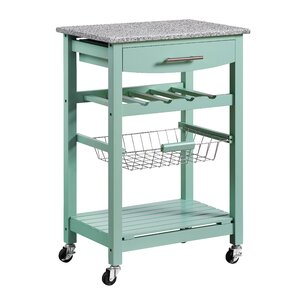 Macy Kitchen Cart with Granite Top by Win..