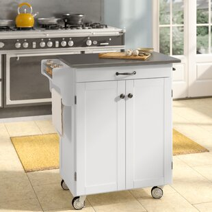 Savorey Kitchen Cart with Stainless Steel Top