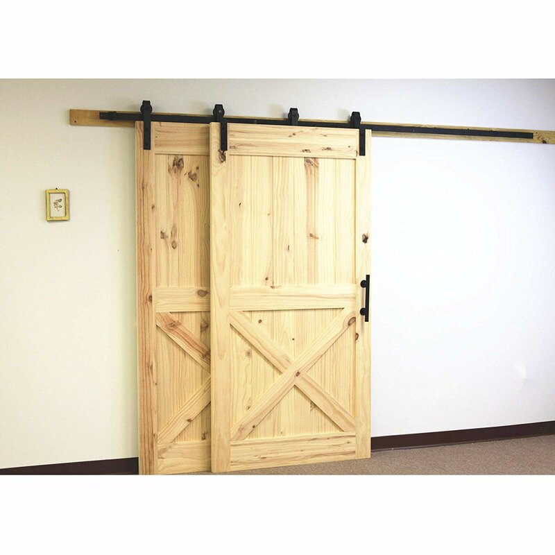 Sliding Single Track Byp Double Door Straight Design Barn Hardware