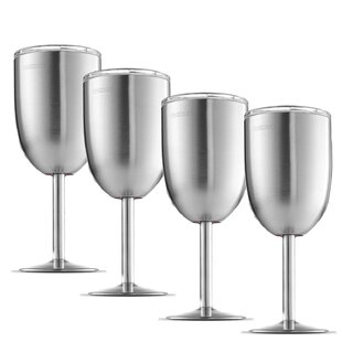 99a4ebfde1d Stainless Steel Wine Glasses You'll Love in 2019   Wayfair