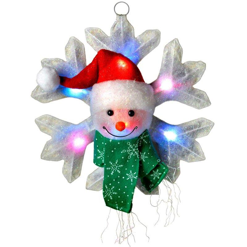 The seasonal aisle beleuchtete dekoration schneeflocke mit for Dekoration schneemann