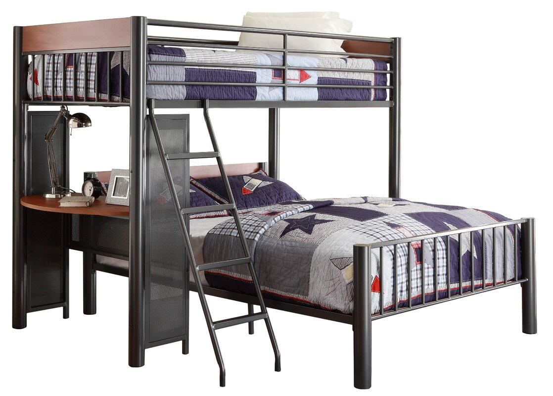 Division Twin Over Full L Shaped Bunk Bed