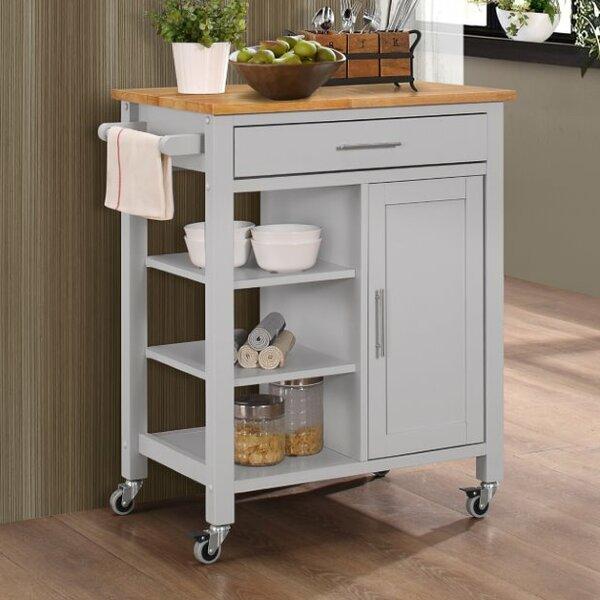 kitchen cart.  Three Posts Newfane Kitchen Cart Reviews Wayfair
