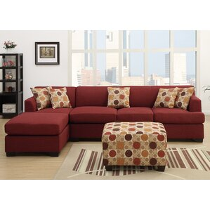 Corporate Reversible Sectional  sc 1 st  Wayfair : red sectional sofas - Sectionals, Sofas & Couches