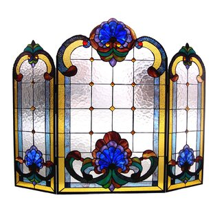 Find The Perfect Glass Stained Glass Fireplace Screens Wayfair