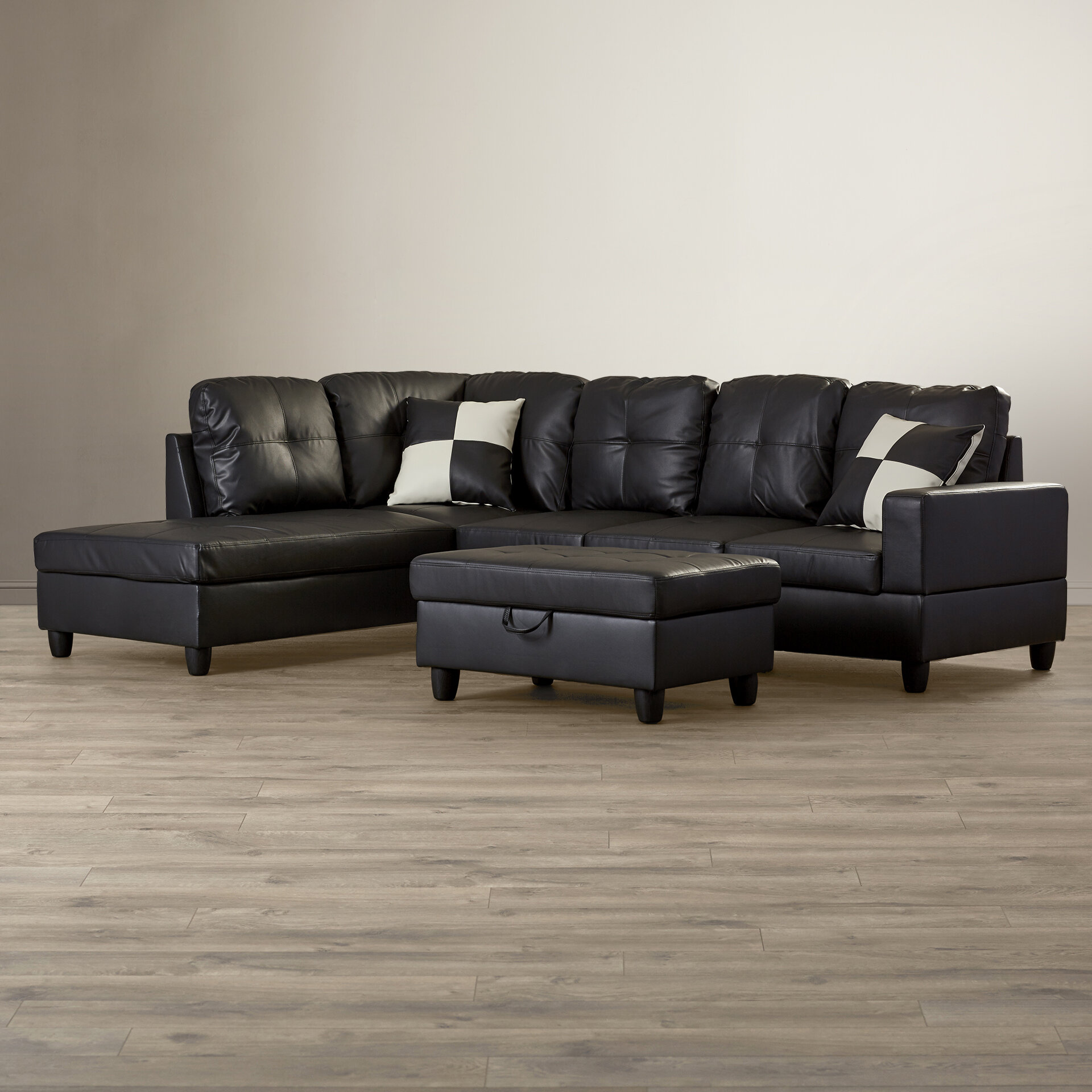 Andover Mills Russ Sectional With Ottoman Reviews