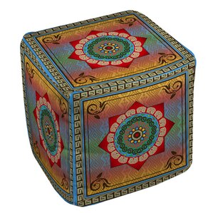 Mexican Summer Ottoman by Manual Woodworkers..