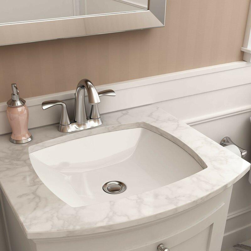 0545000.020 Edgemere Vitreous China Rectangular Undermount Bathroom Sink with Overflow & American Standard Edgemere Vitreous China Rectangular Undermount ...