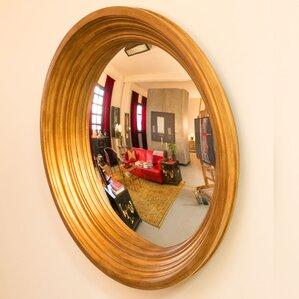 Convex Wall Mirror framed convex mirror | wayfair