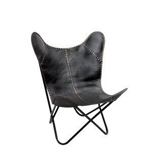 Black Leather Butterfly Chair   Wayfair