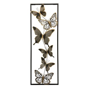 Metal 3 Dimensional Butterflies Wall Décor