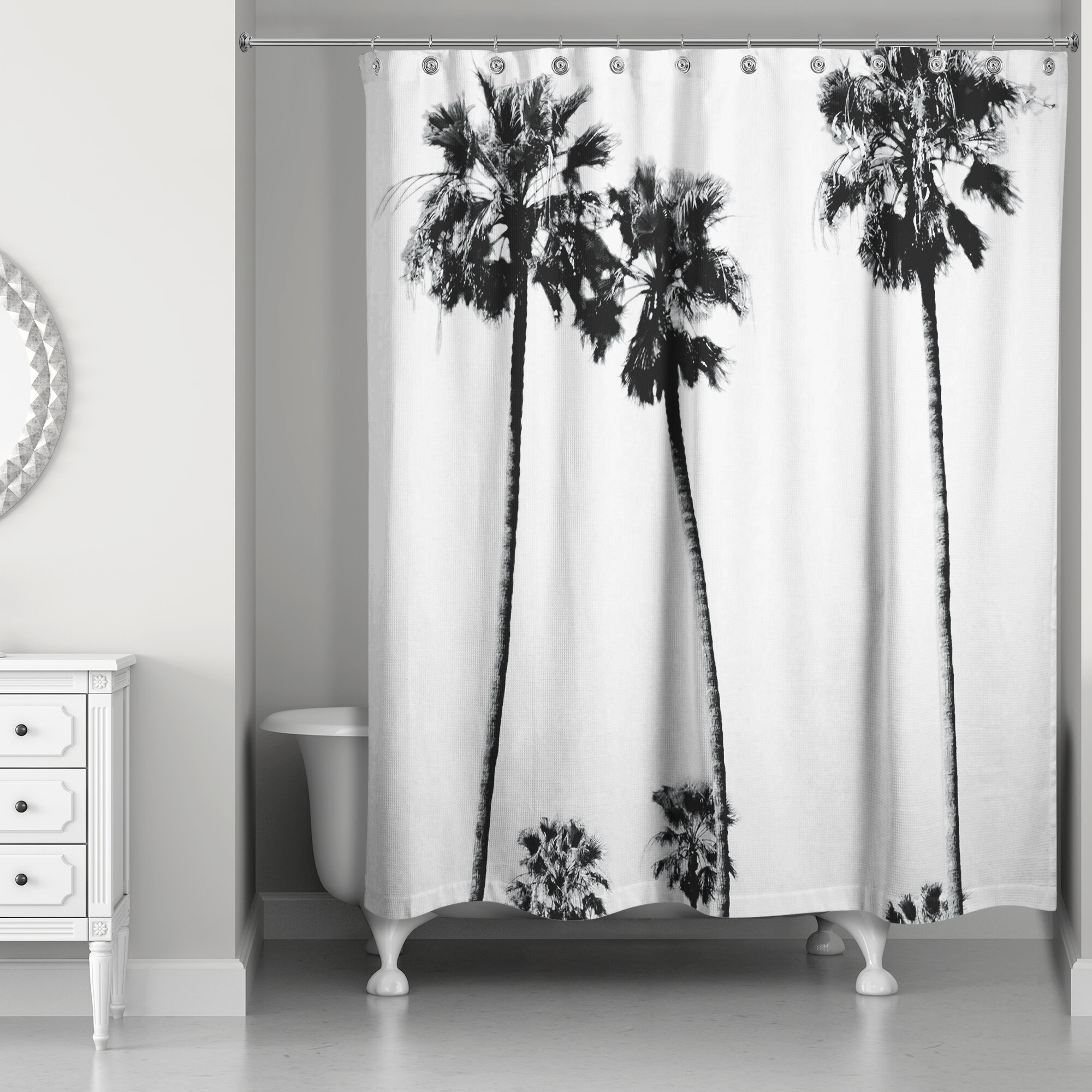 East Urban Home Palm Trees Shower Curtain Wayfair