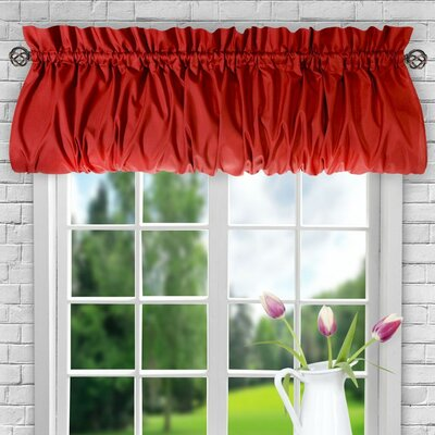 Ellis 60 Balloon Curtain Valance August Grove Color: Red
