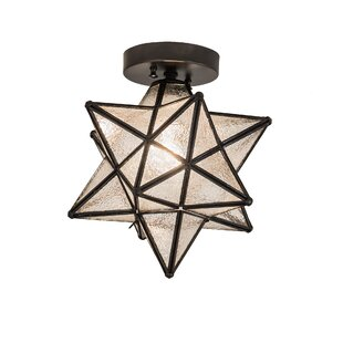 Moravian star ceiling light wayfair moravian star 1 light flush mount aloadofball Choice Image