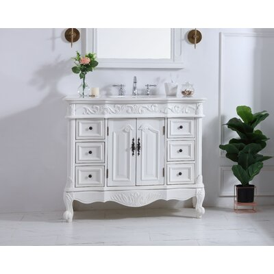 42 Inch Bathroom Vanities – Cabinet, Top, Sink, White